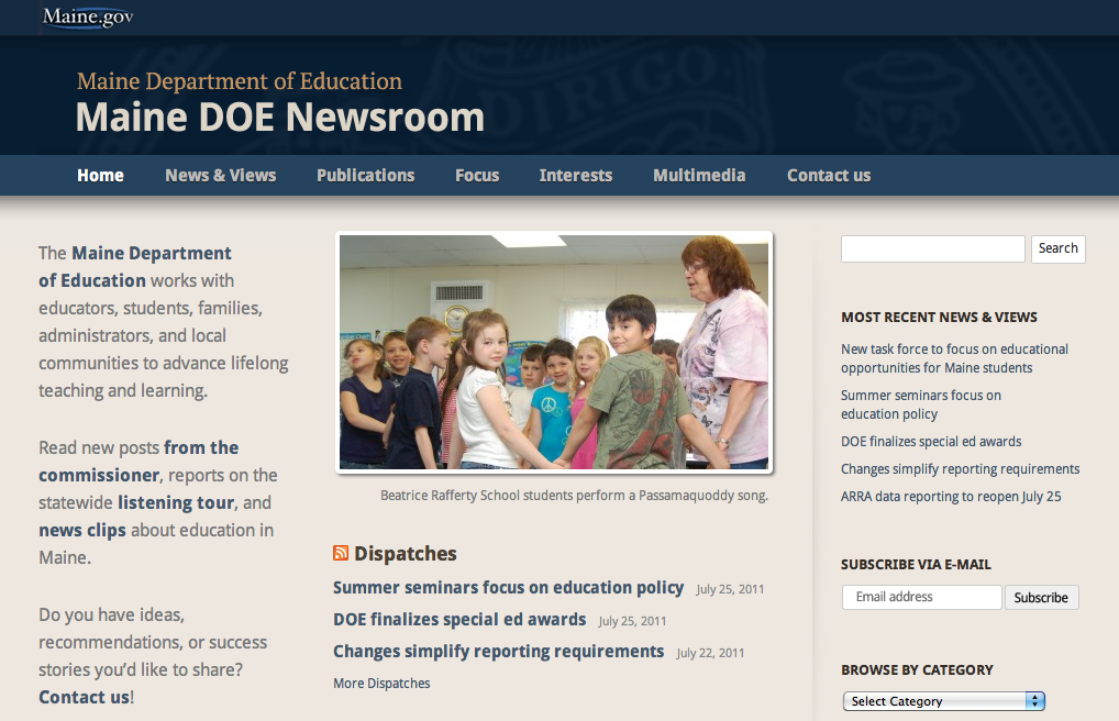 Maine DOE Newsroom